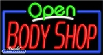 Body Shop Open Neon Sign