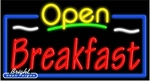 Breakfast Open Neon Sign