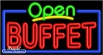 Buffet Open Neon Sign