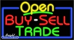 Buy Sell Trade Open Neon Sign