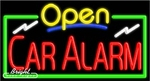 Car Alarm Open Neon Sign
