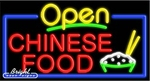 Chinese Food Open Neon Sign