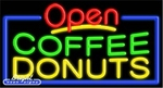 Coffee Donuts Open Neon Sign