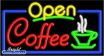 Coffee Open Neon Sign