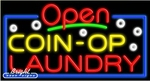 Coin Op Laundry Open Neon Sign