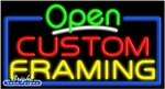 Custom Framing Open Neon Sign