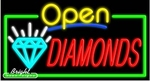 Diamonds Open Neon Sign