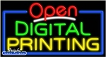 Digital Printing Open Neon Sign