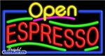 Espresso Open Neon Sign