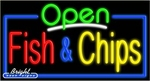 Fish & Chips Open Neon Sign