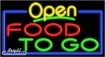 Food To Go Open Neon Sign