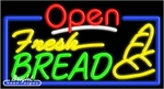 Fresh Bread Open Neon Sign