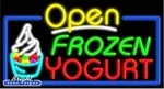 Frozen Yogurt Open Neon Sign