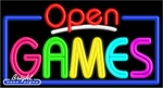 Games Open Neon Sign