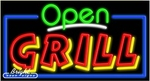 Grill Open Neon Sign