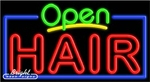 Hair Open Neon Sign