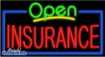 Insurance Open Neon Sign