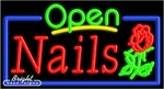Nails Open Neon Sign