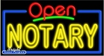 Notary Open Neon Sign