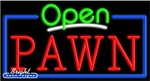 Pawn Open Neon Sign