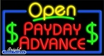 Payday Advance Open Neon Sign