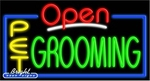 Pet Grooming Open Neon Sign