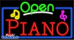 Piano Open Neon Sign