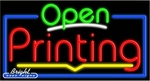 Printing Open Neon Sign