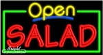 Salad Open Neon Sign