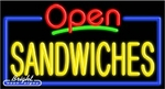Sandwiches Open Neon Sign