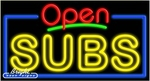 Subs Open Neon Sign