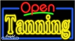 Tanning Open Neon Sign