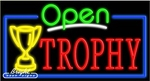 Trophy Open Neon Sign