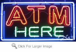 ATM Here Neon Sign