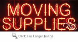 Moving Supplies Neon Sign