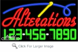 Alterations Neon w/Phone #