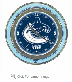 NHL Vancouver Canucks Neon Clock