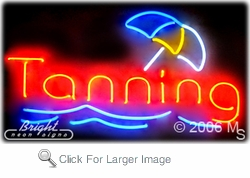 Tanning Parlor Neon Sign