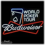 Budweiser World Poker Tour Neon Sign