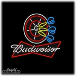 Budweiser Dart Board Neon Sign