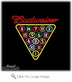 Budweiser Pool Neon Sign