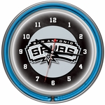 San Antonio Spurs NBA Neon Clock