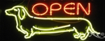 Doggy Open Neon Sign