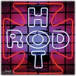 Hot Rod Iron Cross Neon Sign