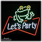 Party Frog Neon Sign