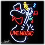 Live Music Cowboy Neon Sign