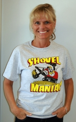 #4079 Adult Shovel or Dozer Maniac T-shirts