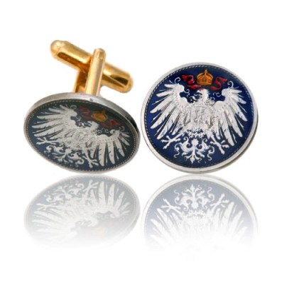 German Eagle Coin Cuff Links