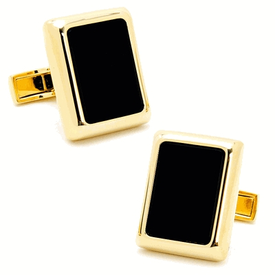 Gold And Onyx Jfk Presidential Cufflinks
