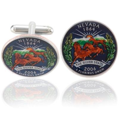 Nevadan Quarter Coin Cuff Links